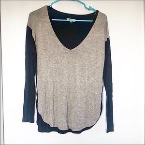 Madewell Two-Toned V-Neck Top